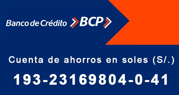 Cuenta en soles del Banco de Credito del Peru